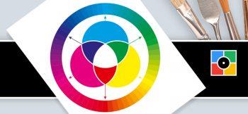 कोरल ड्रॉ मध्ये रंग-चक्र कसे बनते?